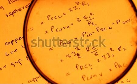 математический текста компьютер бумаги письме Сток-фото © janaka