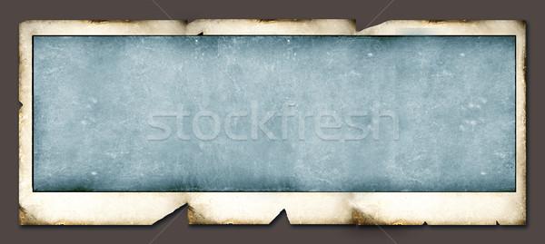 Polaroid közelkép öreg háttér keret retro Stock fotó © janaka
