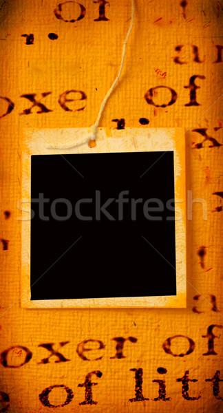 Papír címke közelkép kézzel készített háttér vásárlás Stock fotó © janaka