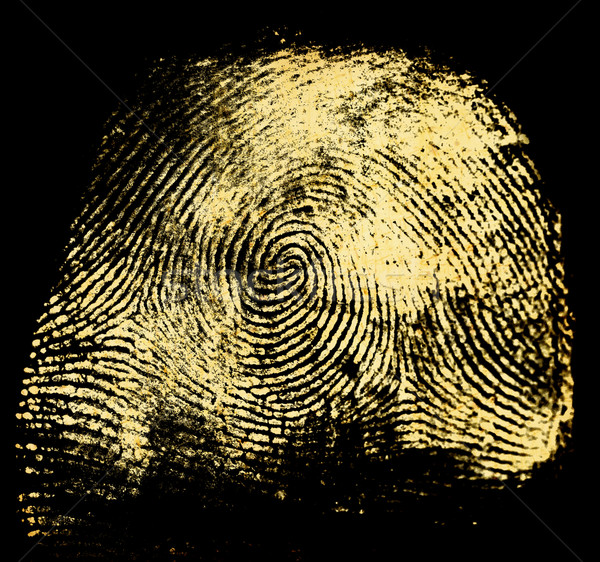 Hüvelykujj nyomtatott zárt sajtó minta néz Stock fotó © janaka