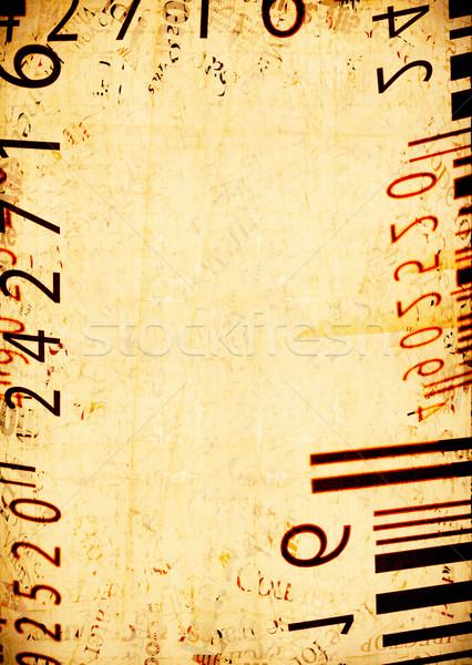 Photo stock: Résumé · code · à · barres · étiquettes · vieux · affaires · noir