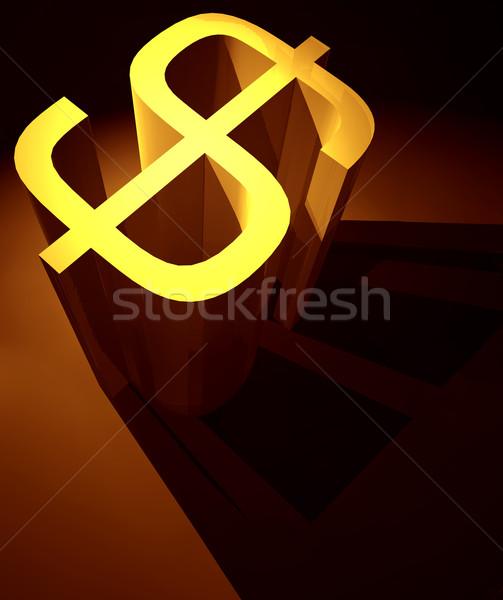 Dollár 3D osztályzat művészet üzlet minta Stock fotó © janaka
