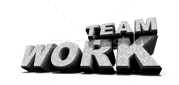 Lavoro di squadra parola bianco 3D arte business Foto d'archivio © janaka