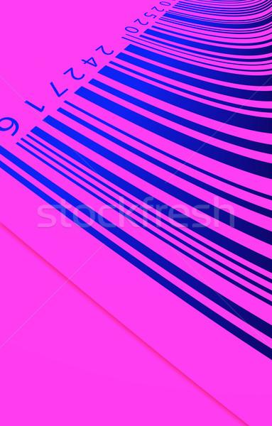 Código de barras etiqueta papel negócio mercado Foto stock © janaka