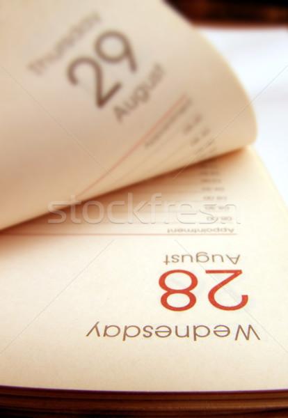 Diário papel livro calendário tempo Foto stock © janaka