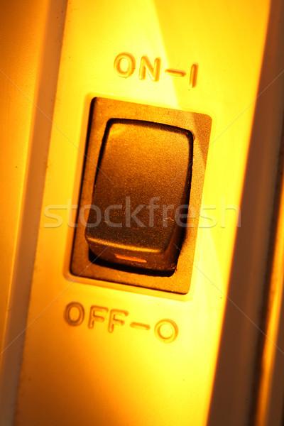 Switch muro luce tecnologia Foto d'archivio © janaka
