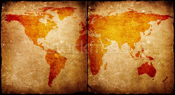 Stock photo: Vintage world map