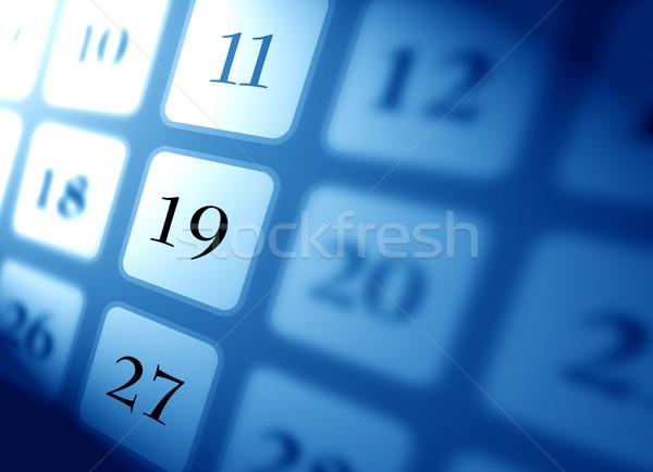 Calendário para cima digital arte tempo data Foto stock © janaka