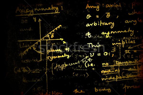 Wiskundig textuur achtergrond onderwijs teken Stockfoto © janaka