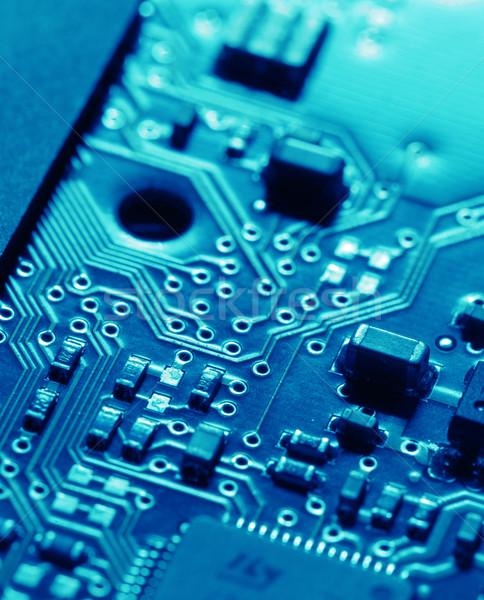Placa de circuito eletrônico internet indústria ciência Foto stock © janaka