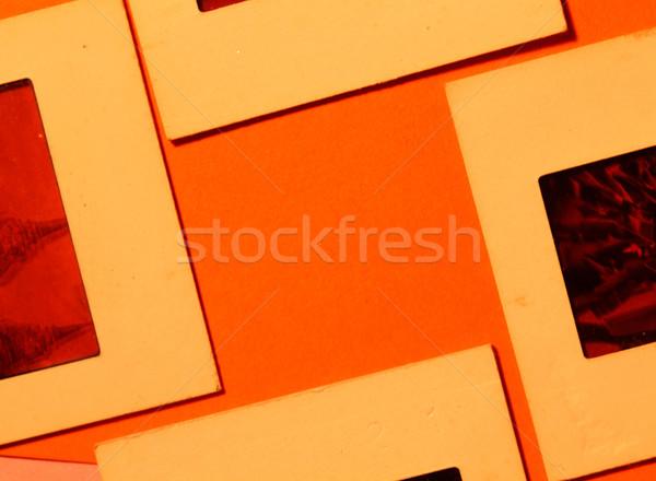 Slide oude film textuur kunst zwarte Stockfoto © janaka