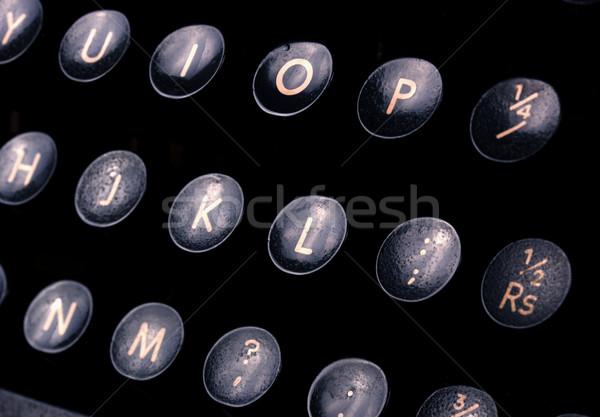 ストックフォト: タイプライター · 抽象的な · 古い · キー · オフィス