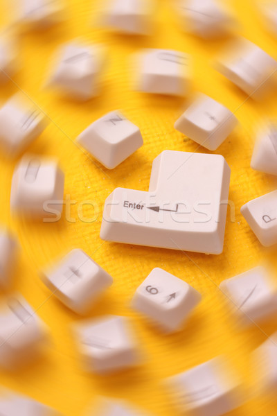 компьютер ключами аннотация технологий клавиатура Сток-фото © janaka