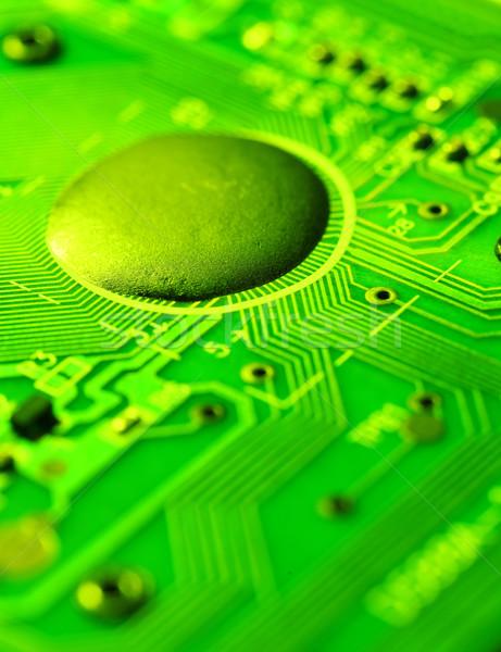 Nyáklap közelkép elektronikus internet ipar tudomány Stock fotó © janaka