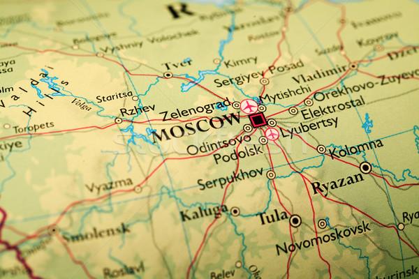 Mapa Moscou cidade globo viajar montanhas Foto stock © janaka