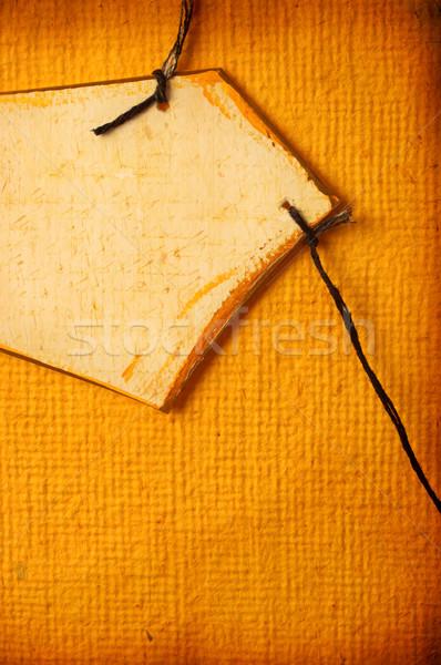 Papier tag handgemaakt achtergrond geschenk Stockfoto © janaka