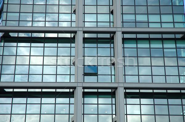 Pencereler modern ofis binası şehir duvar soyut Stok fotoğraf © janhetman