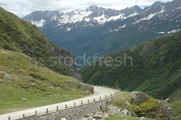 Route alpes élevé montagnes nature neige Photo stock © janhetman