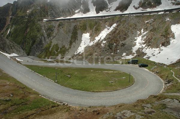 Route alpes élevé montagnes nature voitures Photo stock © janhetman