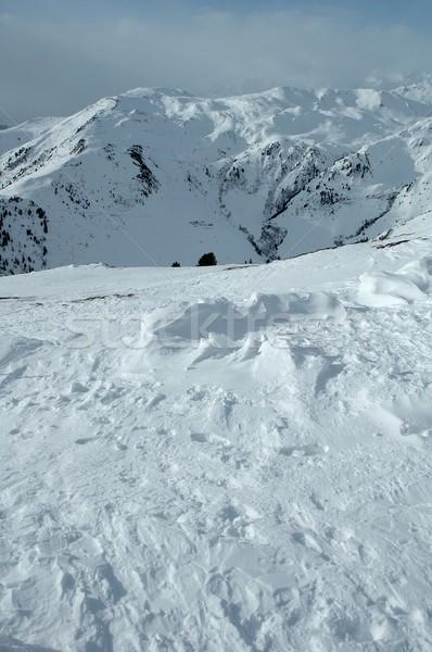 Neige alpes hiver Autriche ciel nature Photo stock © janhetman