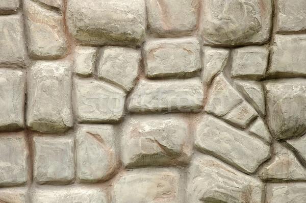 Mur de pierre mur maison fond pierre architecture Photo stock © janhetman