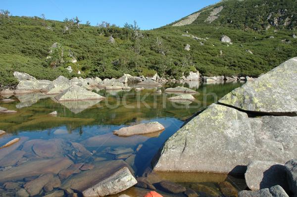 étang montagnes Pologne République tchèque eau vert Photo stock © janhetman