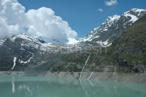 Lac alpes Suisse ciel eau nuages Photo stock © janhetman