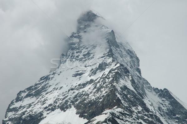 Pic alpes Suisse neige été montagnes Photo stock © janhetman