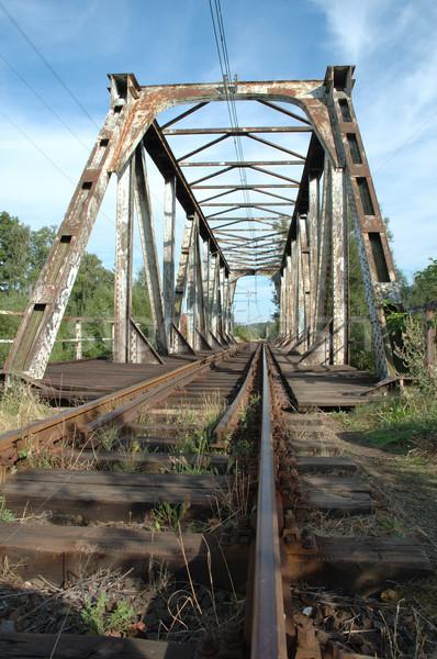 Eski demiryolu şehir Polonya ahşap inşaat Stok fotoğraf © janhetman