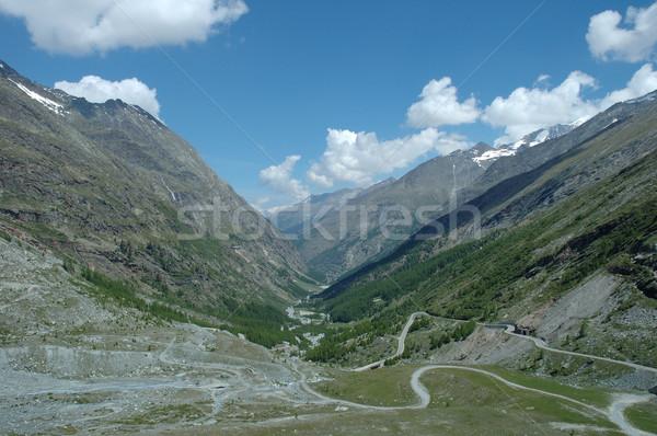 Vallée alpes Suisse ciel montagnes pierre Photo stock © janhetman