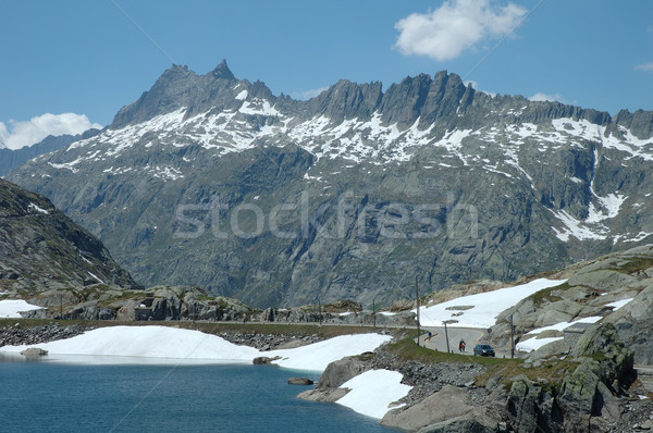 Alpes Suisse ciel nuages montagnes lac Photo stock © janhetman