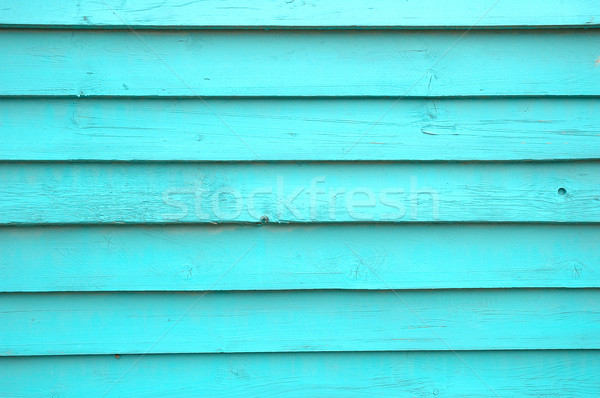Bois mur turquoise fond vert architecture Photo stock © janhetman