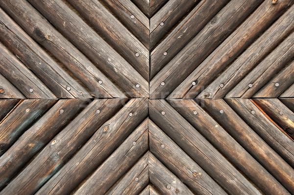 Ahşap duvar kahverengi arka plan mimari köy Stok fotoğraf © janhetman