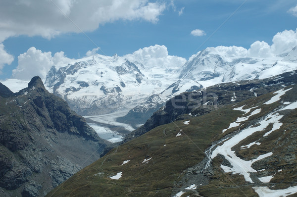 Vallée pic alpes Suisse neige montagne Photo stock © janhetman
