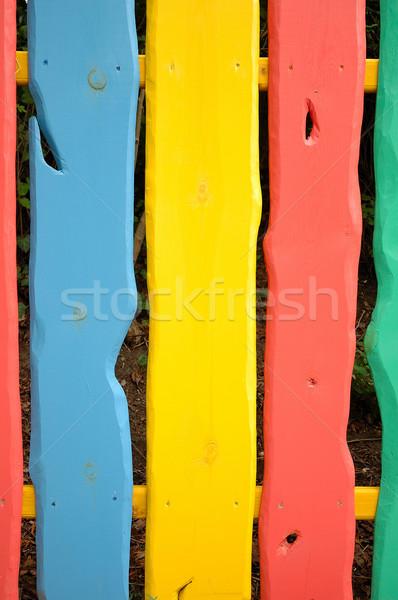 Photo stock: Coloré · clôture · texture · peinture · fond