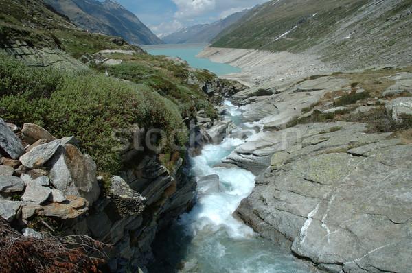 écouter lac alpes Suisse ciel nuages Photo stock © janhetman