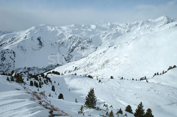 Vallée alpes hiver pic Autriche ciel Photo stock © janhetman