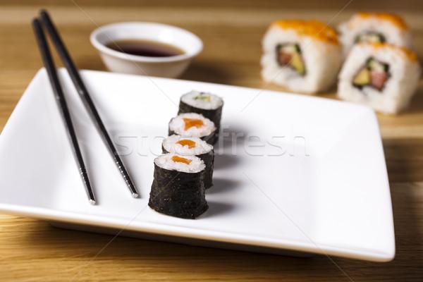 Asia and food on sushi Stock photo © JanPietruszka