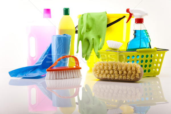 Variety of cleaning products Stock photo © JanPietruszka