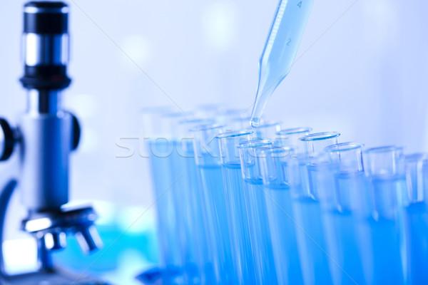 Test tubes closeup, laboratory  Stock photo © JanPietruszka