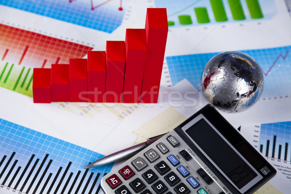 Procent podpisania naturalnych kolorowy czerwony finansów Zdjęcia stock © JanPietruszka