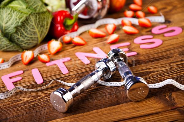 Fogyókúra fitnessz egészséges friss gyümölcs egészség Stock fotó © JanPietruszka