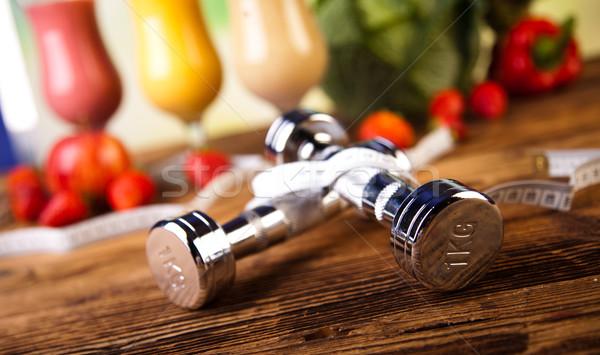 Stock photo: Sport Milk shakes, healthy and fresh