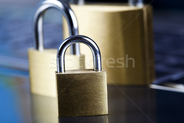 Internet security, modern network symbols concept Stock photo © JanPietruszka