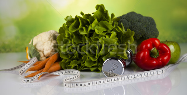 Sport diet, Calorie, measure tape Stock photo © JanPietruszka