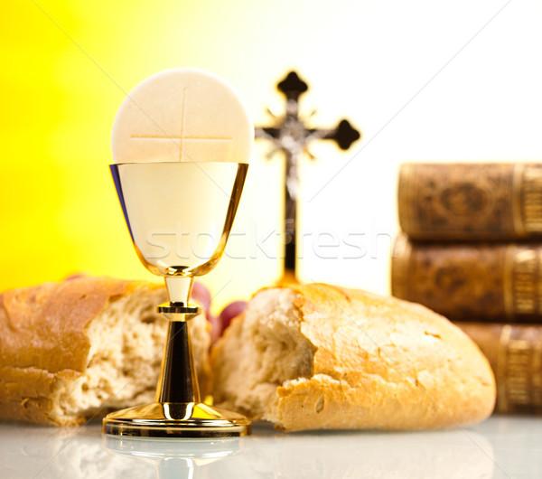 святой общение ярко Иисус хлеб Библии Сток-фото © JanPietruszka