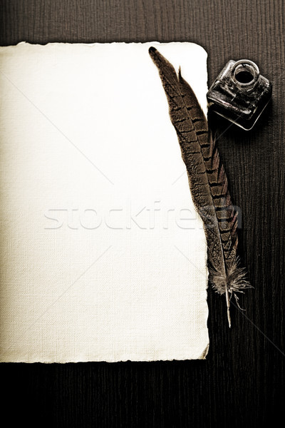 Old paper with space for text, vintage saturated ambient concept Stock photo © JanPietruszka