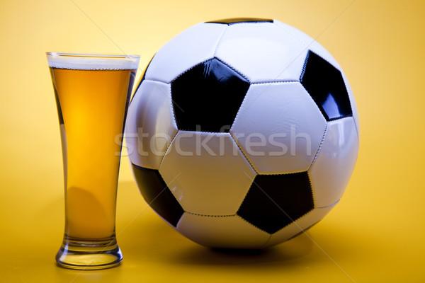 Foto stock: Cerveza · colección · fútbol · brillante · vibrante · alcohol