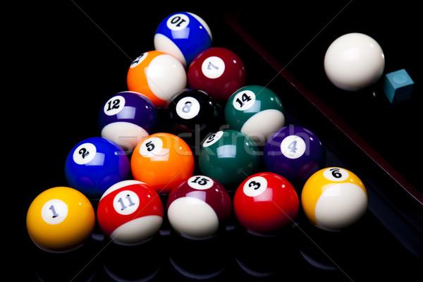 Biliárd labda élénk színek természetes sport Stock fotó © JanPietruszka