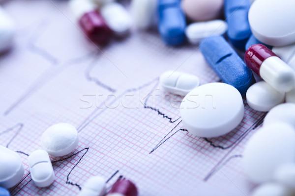 Narkotyków kolorowy jasne muzyka lekarza medycznych Zdjęcia stock © JanPietruszka